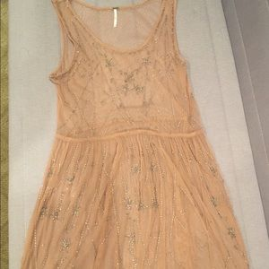 Free People Embellished Sheer Dress Size M